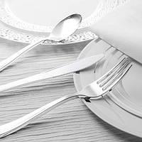 Ложка пластиковая столовая серебро 12 шт 175 мм оптом от производителя  для ресторанов, horeca CFP., фото 1