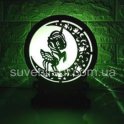 Соляной светильник Шар 7 Единорог