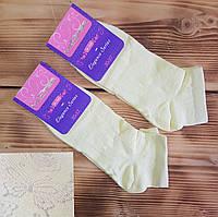 """Шкарпетки укорочені жовті """"Літо"""", розмір 23 / 35-37р."""