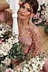 Элегантный вечерний  комбинезон Анри лиловый, фото 4