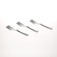 Вилка пластиковая 24 шт 130 мм десертная серебро оптом для ресторанов, кенди баров Capital For People., фото 1