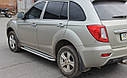 Пороги боковые (подножки-площадка) Lifan XC60 2013+ (Ø60), фото 2