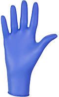 Перчатки СИНИЕ нитриловые размер М 1 пара