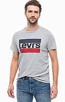 Серая футболка с принтом Levis | топ