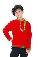Рубаха народная льняная для мальчика \ Размер 134-140; 146-152 \ BL - ДН52