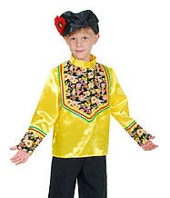 Рубаха народная + картуз для кадрили, национальный костюм \ Размер 122-128; 134-140; 146-152 \ BL - ДН51