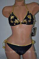 Женский черный купальник Life Beach - XL (46р.) - бюст 92см, бедра 98см, 82% полиамид, 18% эластан