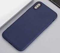 Apple iPhone X  Cиликон оригинальный темно-синий