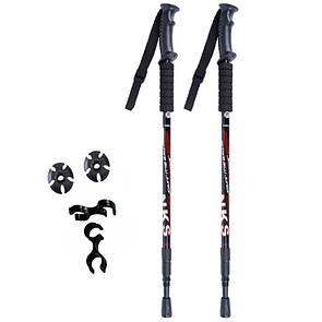 Палки для скандинавской ходьбы Fervor FOX Classic пара (2 шт) Трекинговые палки. Черные.