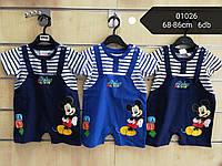 Боди для мальчиков оптом, Disney, 68-86 см,  № 01026