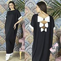 Модное молодежное платье в пол с бантами на спине. 2 цвета!, фото 1