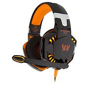 Наушники гарнитура игровые с подсветкой Kotion Each G2000 Black/Orange