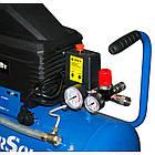 Компрессор воздушный электрический EnerSol ES-AC190-25-1, поршневой, мощность 1,8 кВт, 190 л/мин, ресивер 25л, фото 6