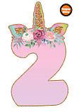 Топпери цифри Єдиноріжки | Цифри єдинороги | Топпери цифри на торт | Набір або поштучно, фото 3