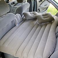 Автомобильный матрас WOW Универсальный надувной автоматрас с подушками и электронасосам Серый