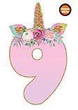 Топпери цифри Єдиноріжки | Цифри єдинороги | Топпери цифри на торт | Набір або поштучно, фото 10