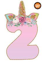 Топпери цифри Єдиноріжки   Цифри єдинороги   Топпери цифри на торт   Набір або поштучно 2
