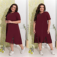 Женское стильное платье тиар 42-44 46-48 50-52 54-56 58-60 62-64 черный электрик мята марсала красный