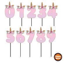 Топпери цифри Єдиноріжки   Цифри єдинороги   Топпери цифри на торт   Набір або поштучно