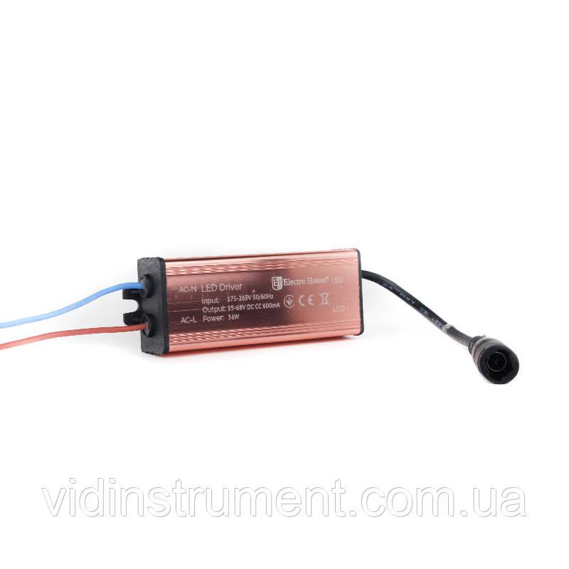 ElectroHouse LED драйвер 36W input 175-265V; output 55-68 V