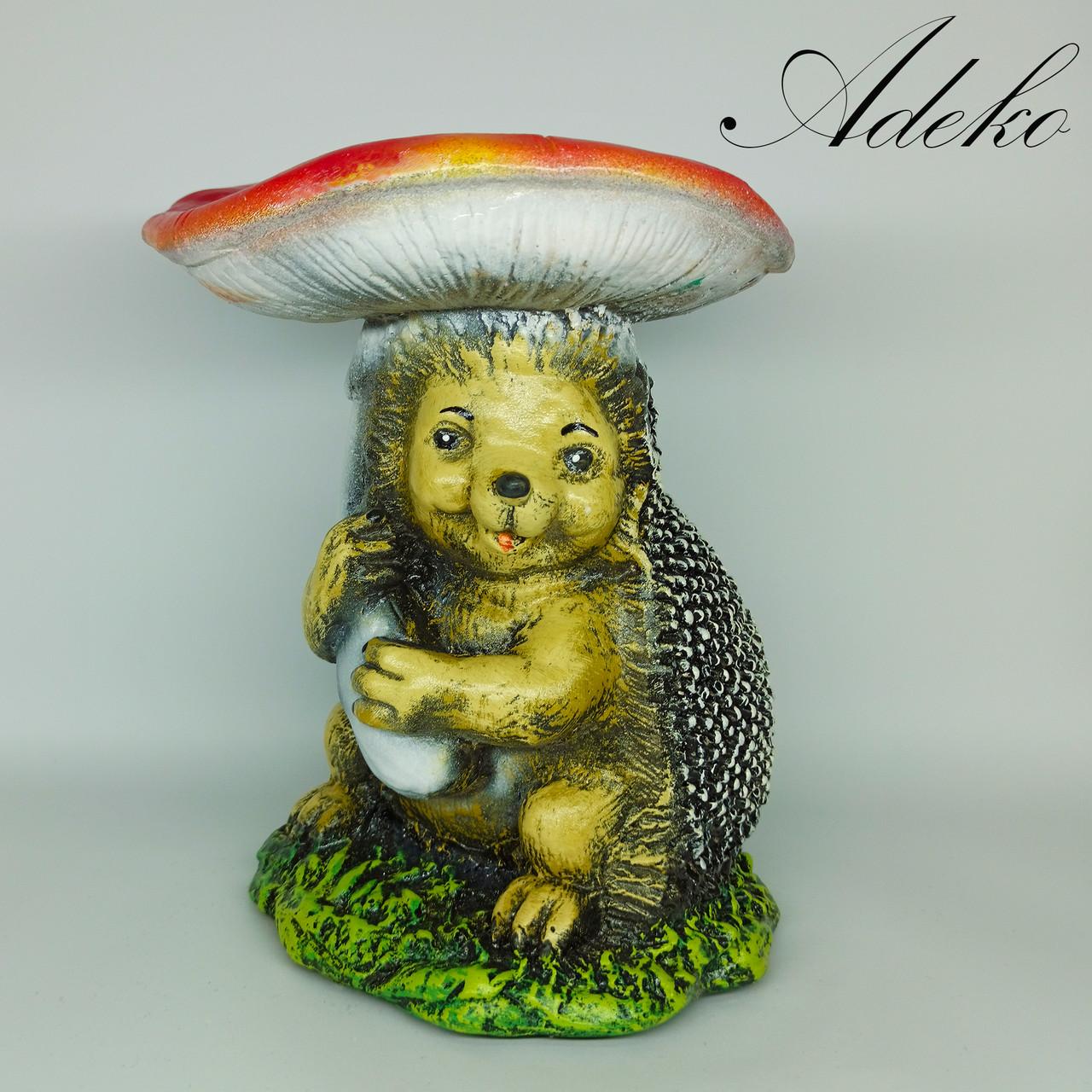 Садовая фигура Ежик под грибом 32 см
