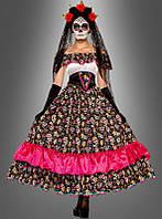 Женский карнавальный костюм к Дню мертвых