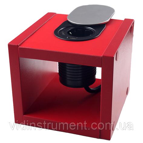 ElectroHouse Компактная мебельная розетка 1х16A, 1хUSB 2,4A IP40, фото 2