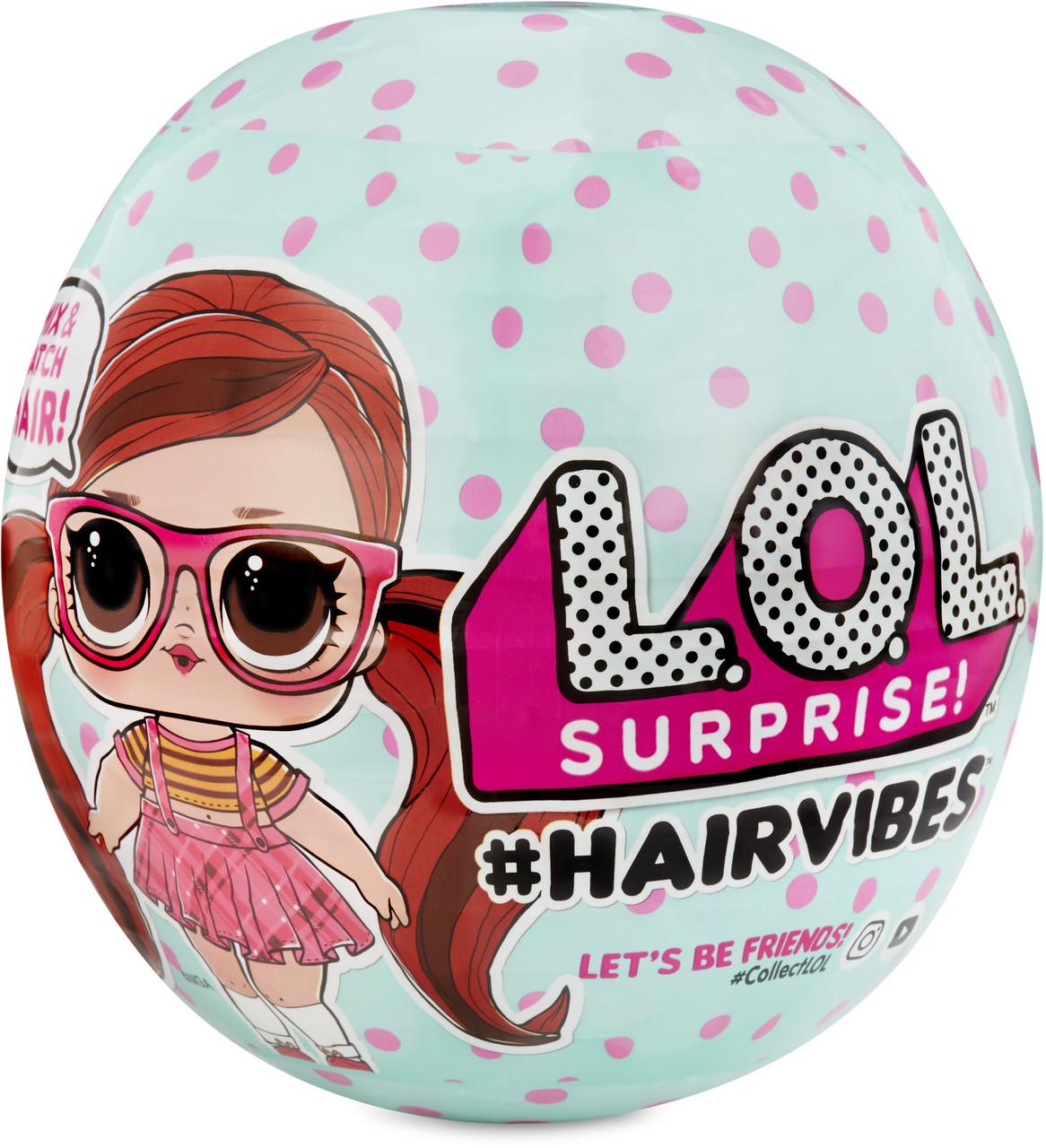 Кукла ЛОЛ модные прически L.O.L Surprise! S6 W1 Hairvibes Dolls with 15 Surprises