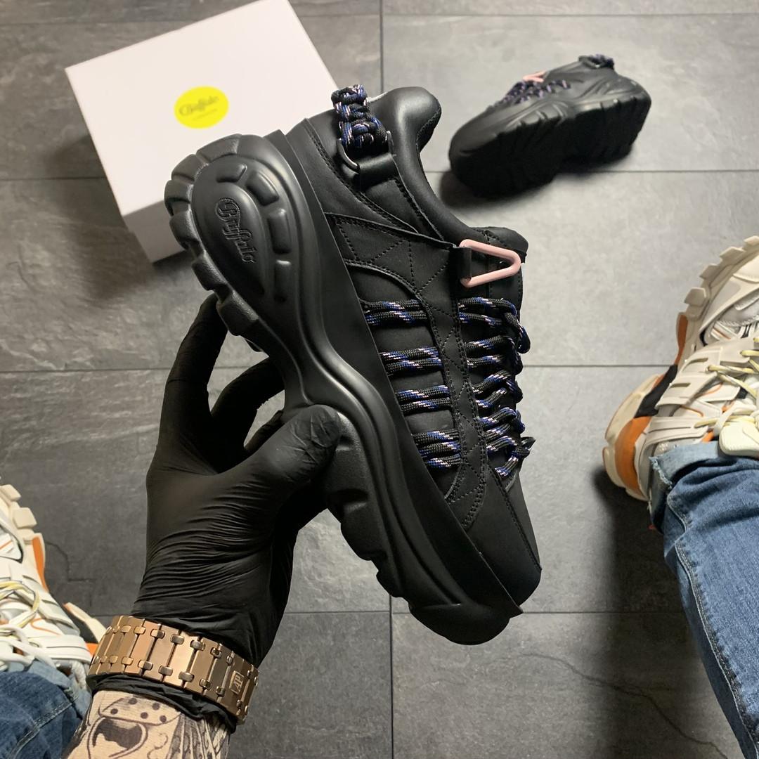 Женские кроссовки Buffalo London Black Blue, женские кроссовки буффало лондон