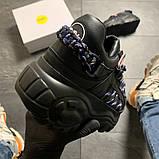 Женские кроссовки Buffalo London Black Blue, женские кроссовки буффало лондон, фото 7