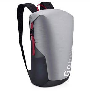 Легкий туристический рюкзак Gonex 35L для трекинга. Складной рюкзак-гермомешок. Серый.