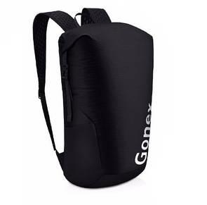 Легкий туристический рюкзак Gonex 35L для трекинга. Складной рюкзак-гермомешок. Черный.