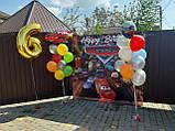 Дизайн ДН БЕСПЛАТНОБанер 2х2,тачки Маквин, на ювілей, день народження. Друк банера |Фотозона|Замовити банер, фото 2