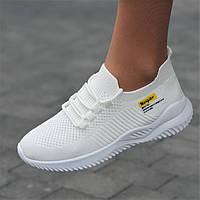 Кроссовки женские белые модные летние сетка (Код: М1757)