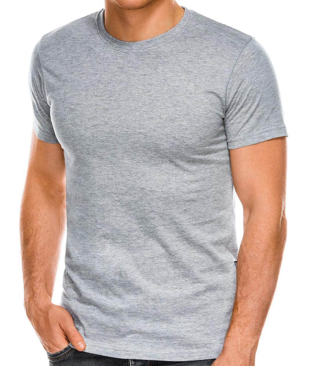 Футболка мужская серая 100% хлопок размер S