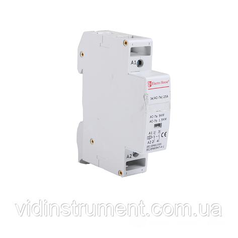 ElectroHouse Контактор модульный 1P 25A 220-230V IP20 2НО, фото 2