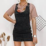Сарафан джинсовый темно-серый Relucky 31-3314, фото 3
