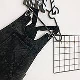 Сарафан джинсовый темно-серый Relucky 31-3314, фото 6