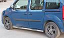 Пороги боковые (подножки-трубы с накладками) Mercedes Citan (W415) 2012+ (Ø60), фото 3