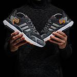 Чоловічі кросівки Adidas Nite Jogger (темно-сірі) D3, фото 2