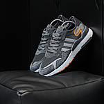 Чоловічі кросівки Adidas Nite Jogger (темно-сірі) D3, фото 5