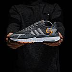 Чоловічі кросівки Adidas Nite Jogger (темно-сірі) D3, фото 4