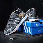 Чоловічі кросівки Adidas Nite Jogger (темно-сірі) D3, фото 7