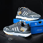 Чоловічі кросівки Adidas Nite Jogger (темно-сірі) D3, фото 6