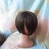 Накладка на макушку с челкой на зажимах русая 1369-10, фото 4