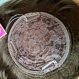 Накладка на макушку с челкой на зажимах русая 1369-10, фото 7