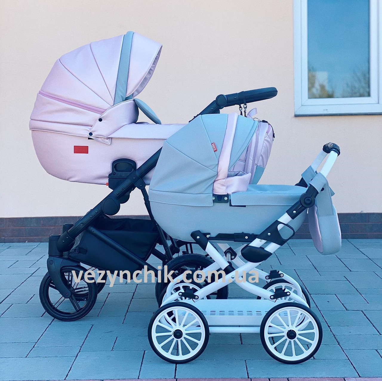 Коляска для куклы Broco Mini 2020 01 серо-розовый цвета в ассортименте (лялькова коляска)