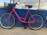 Женский дорожний городской велосипед 26 дюймов Азимут Леди с корзинкой Azimut Lady