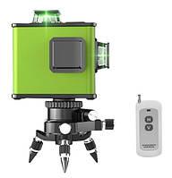 Лазерный уровень с пультом Heng Chang 3D зелёные лучи, фото 1