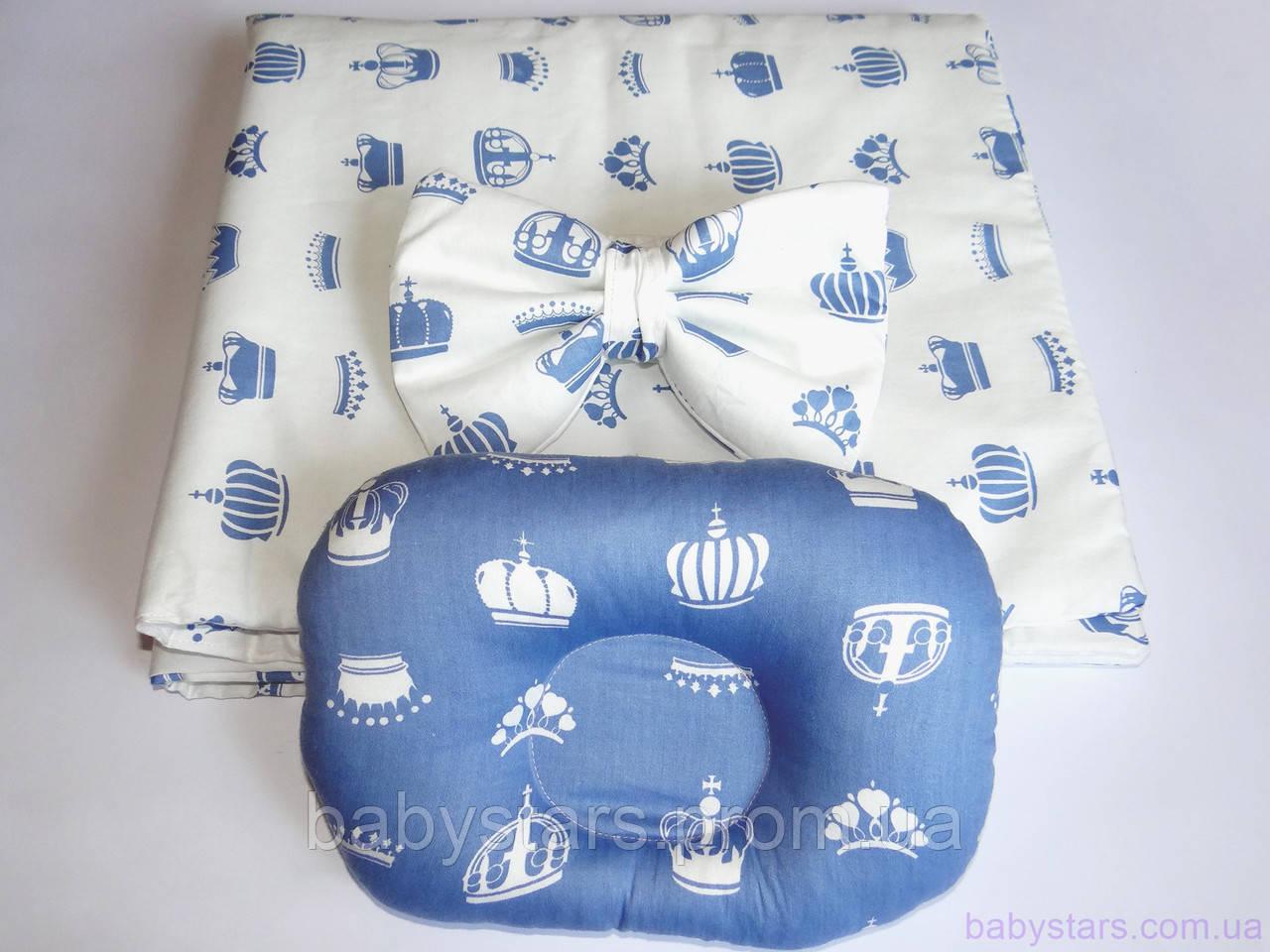 """Конверт для новорожденного с подушкой, """"Короны"""""""